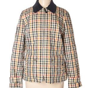 TALBOTS Checker Colorful Light Coat Size XL